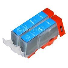 2 Tintenpatronen +Chip CLI-521 cyan MP 540 MP550 MP560 MX860 MX870 NEU