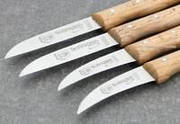 4 Stück Solinger Küchenmesser Schälmesser ROSTFREI von NTS-Solingen BUCHE ZSTH15