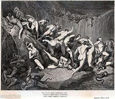INFERNO: LA BOLGIA DEI LADRI. Gutave Doré. Dante Alighieri. Divina Commedia.1880