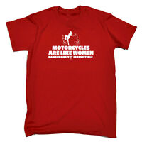 Funny Novelty T-Shirt Mens tee TShirt - Motorcycles Are Like Women Dangerous Yet