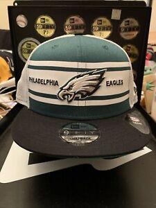 """Philadelphia Eagles New Era 9FIFTY """"Old School Trucker Style SnapBack Hat"""