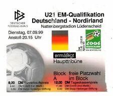 Ticket Germany - Northern Ireland 07.09.1999 U21
