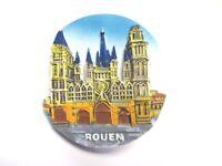 Rouen Kathedrale Kirche Magnet Souvenir Poly Frankreich Normandie,Neu