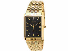 Accurist Men's Gold Plated Strap Polished Wristwatches