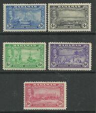 BAHAMAS - 1948  KGVI PICTORIALS 3d - 10d - HM - S#137/141 - E374