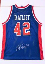 THEO RATLIFF Champion DETROIT PISTONS Jersey 48 NBA Auto Signed Arenas COA Hill