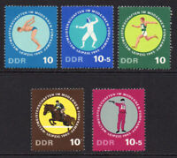East Germany Set of 5 Games Stamps c1965 Unmounted Mint Never Hinged (8698)