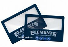 TWO ELEMENTS Rolling Papers Magnifier Scooping Cards - SEE WHAT YOU ARE SMOKING!