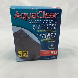 Activated Carbon Filter Insert for Hagen AquaClear 20/50 Gallon 3 Per pack -H01