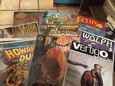10 Assorted Comic Books - Police,Scud,eclipso,wolph,Howard the Duck,Vertigo, etc