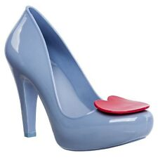 Melissa Mel High Heels Ladies Shoes Pumps Size 5 38 Blue Red Heart ❤️