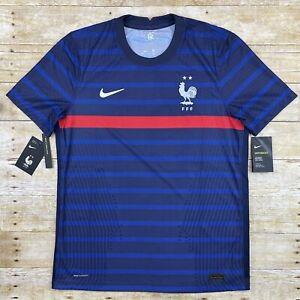 Nike France FFF Authentic Vaporknit Home Jersey 20/21 CD0586-498 Mens Sz Large
