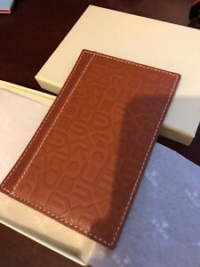 Vintage Rolex Leather Notepad Brown