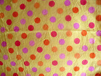 Fabric Traditions   Yellow  w/Pink Orange Red  Dots  Fabric  2 1/2 Yd