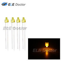 100pcs 2mm Diffused Yellow-Yellow Light DIP Round Top LED Diodes 8000Mcd