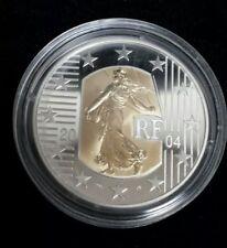 2004 France 5 Euro Bi-Metallic Coin - The Seed Sower on Gold Insert (w/ COA)