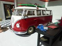 VW Teilung 1963 T1 Zelter Surfer Bus 1:24 Skala-Modelle Detaillierte Modell