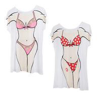 2x Flower Polka Dot Hawaii T Shirt Beech Cover Up Party Hen Night Sleepwear