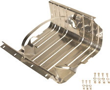JEEP CJ WRANGLER YJ POLISHED STAINLESS STEEL GAS TANK SKID PLATE & TOP STRAP