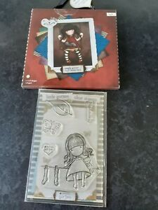 "Santoro Gorjuss 6""x 6"" Papers 32pk + clear stamp set For Cardmaking Scrapbooking"