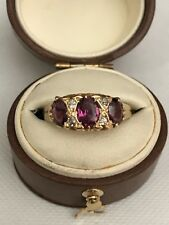 Antique 18Ct Tourmaline And Diamond Ring