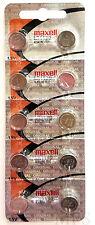 "10 Original Maxell LR1130 AG10 389 390 189 L1131 Alkaline Batteries ""Hologram"""