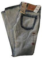 LEVIs 511 Slim Fit Jeans Slightly Tapered Leg Light Washed Denim Mens 31 x 32
