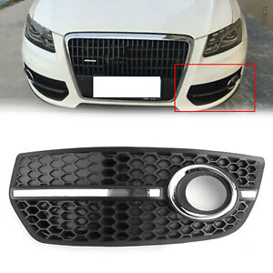 1PC Left Front Bumper Grill Fog Light Lamp Covers Trim For Audi Q5 2009-2011 A01