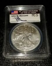 2013 $1 Silver Eagle First Strike  MS70 MERCANTI (12th Chief Engraver)!  #001