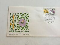 First day cover 1970 Sturt's Desert Rose & Wattle 4c Coil Pair Unaddressed