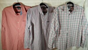 Lot of Three Chaps by Ralph Lauren Long Sleeve Button Down Mens Shirts Size M