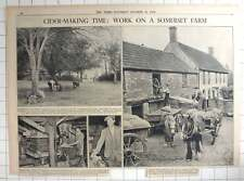 1936 Somerset Cider, Ansford Farm , Castle Cary, Making Cheese