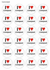 24X PRECUT LIVERPOOL FOOTBALL BIRTHDAY EDIBLE WAFER CUPCAKE CAKE TOPPERS 1364