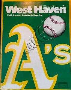 1982 West haven A's Vs Lynn Sailors Program Eastern League