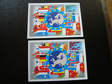 FRANCE (timbre service) - 2 cartes 1er jour 23/11/1991 (cy6) french