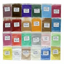 24 Colors Mica Powder Pigments for bath bomb Soap Making Candle Resin Jewelry