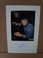 Leonard Nimoy Genuine Autograph - UACC / AFTAL.