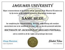 JACKSONVILLE JAGUARS PERSONALIZED FAN AWARD, GREAT GIFT