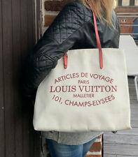 Beau Sac Cabas Louis Vuitton Toile Article De Voyages Paris Neuf