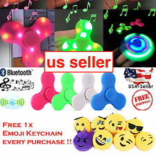LED Lights Fidget Spinner with Bluetooth Plays Music From Your Cell Phone