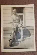 Rare Original WW2 Photograph of a U.S. Army GI w/Folding Airborne Motor Scooter