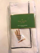 "Kate Spade  ""To Market""100% cotton ""Bread Stand"" set 4 napkins multi color, 20"""