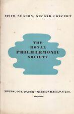 Concert Programme 1937 Gregor Piatigorsky Cello Bloch Boccherini Queens Hall