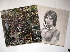 ROD STEWART A NIGHT ON THE TOWN 1976 ORIGINAL LP, PICTURE INNER, EX CONDITION
