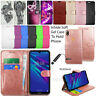 Cover For Huawei Y5 2019 Wallet Leather Case Flip Book Protective + Touch Stylus