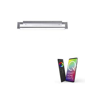 Paul Neuhaus Q-MATTEO, LED Deckenleuchte, aluminiumfarben, Smart Home, modern...