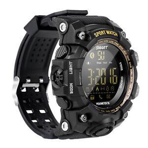 Man Military Tactical Bluetooth Smart Watch Fitness Tracker Sport Waterproof 50m