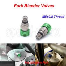 M5x0.8 Fork Air Bleeder Valves for Kawasaki KX65 85 100 125 250 F KX450F KDX KLX