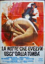 NIGHT EVELYN CAME OUT OF THE GRAVE Italian 2F movie poster 39x55 GIALLO SYMEONI
