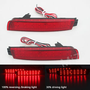 2x LED Rear Bumper Reflector Light For Nissan Murano Juke Quest Sentra Infiniti